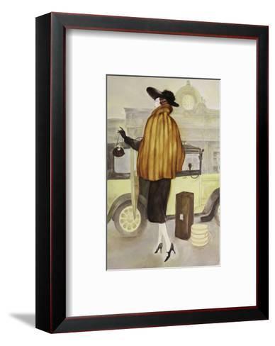 Taxi Lady-Graham Reynold-Framed Art Print