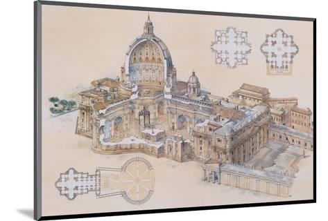 Rome, St. Peter's Basilica-L. Derrien-Mounted Art Print