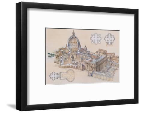 Rome, St. Peter's Basilica-L. Derrien-Framed Art Print