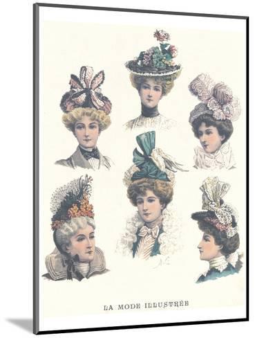 La Mode Illustree, Chapeaux II--Mounted Art Print