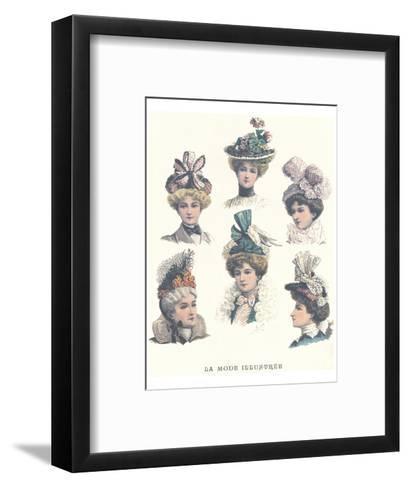 La Mode Illustree, Chapeaux II--Framed Art Print