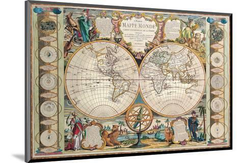 Antique Map, Mappe Monde, 1755-Jean-baptiste Nolin-Mounted Art Print
