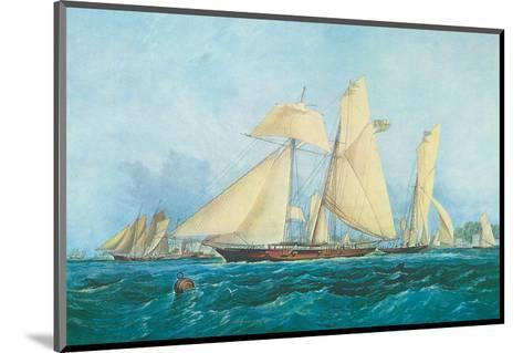 Yachting, Scene off Cowes Isle of Wight-Thomas Sewell Robins-Mounted Art Print