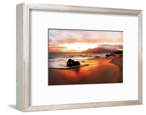 Coastal Rocks in Hawaii at Sunset-Shane Settle-Framed Art Print