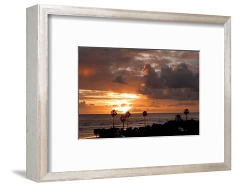 Cardiff Sunset-Shane Settle-Framed Art Print