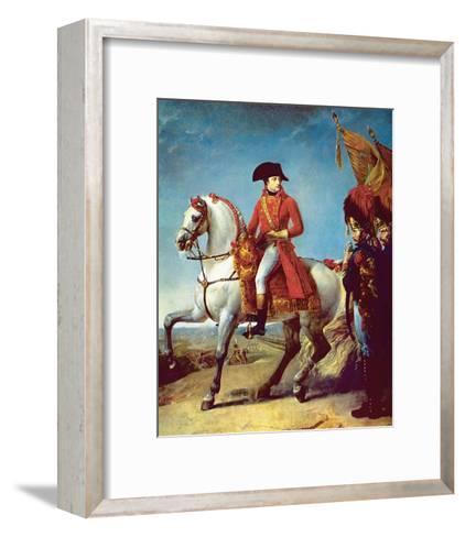 Napoleon after the Battle of Marengo--Framed Art Print