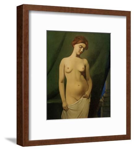 Female Nude, Green Curtain-F?lix Vallotton-Framed Art Print