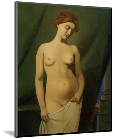 Female Nude, Green Curtain-F?lix Vallotton-Mounted Giclee Print