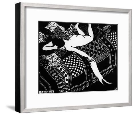 Laziness-F?lix Vallotton-Framed Art Print