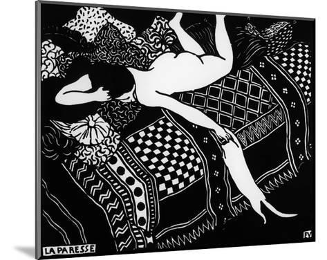 Laziness-F?lix Vallotton-Mounted Giclee Print