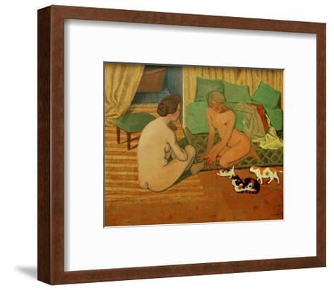 Women and Cats-F?lix Vallotton-Framed Art Print