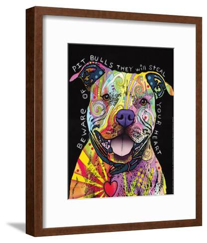 Beware of Pit Bulls-Dean Russo-Framed Art Print