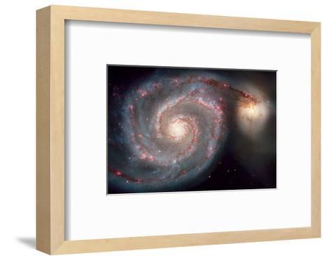 NASA, Whirlpool Galaxy--Framed Art Print