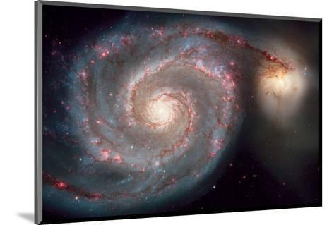 NASA, Whirlpool Galaxy--Mounted Art Print