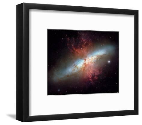 NASA - Starburst Galaxy M82--Framed Art Print