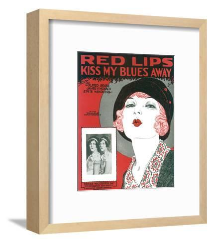 Song Sheet Cover: Red Lips Kiss My Blues Away--Framed Art Print