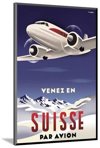 Venez en Suisse par Avion-Michael Crampton-Mounted Art Print