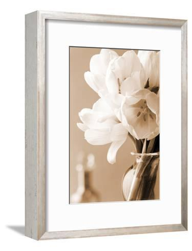 Tulips in Sepia-Christine Zalewski-Framed Art Print