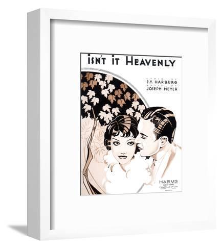 Song Sheet Cover: Isn't It Heavenly--Framed Art Print