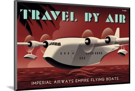 Travel By Air, Imperial Airways Empire Flying Boat-Michael Crampton-Mounted Art Print