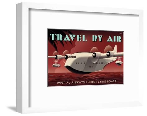 Travel By Air, Imperial Airways Empire Flying Boat-Michael Crampton-Framed Art Print