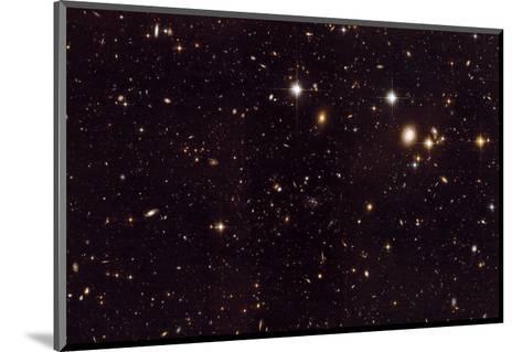 NASA - View of Spiderweb Galaxy Field--Mounted Art Print