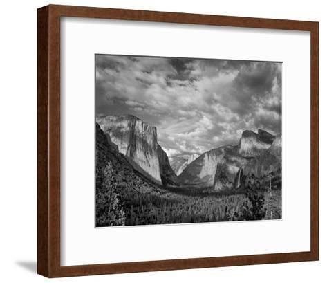 Yosemite Tunnel View Black and White I-Danny Burk-Framed Art Print