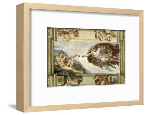 The Creation of Adam (Full)-Michelangelo Buonarotti-Framed Art Print