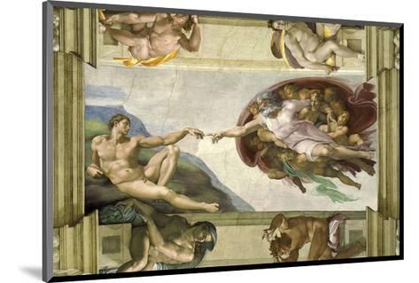 The Creation of Adam (Full)-Michelangelo Buonarotti-Mounted Giclee Print