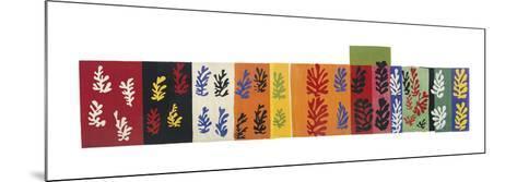 Composition (Les Velours), 1947-Henri Matisse-Mounted Art Print