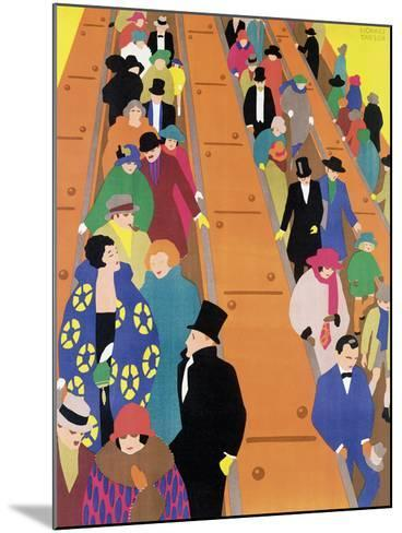 Brightest London is Best Reached by Underground, 1924-Horace Taylor-Mounted Giclee Print