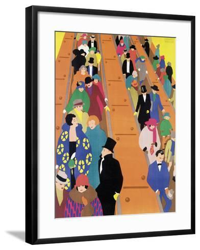 Brightest London is Best Reached by Underground, 1924-Horace Taylor-Framed Art Print