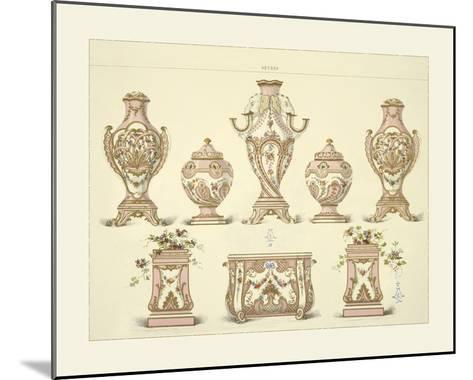 Vases and Jardinieres- Sevres-Mounted Giclee Print