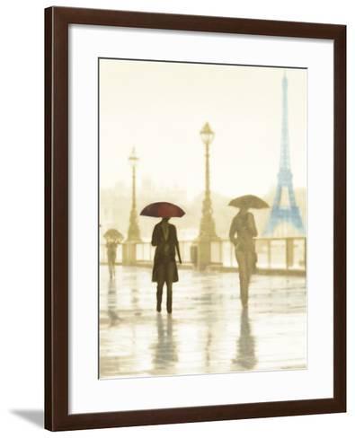 Paris Red Umbrella - Golden-Robert Canady-Framed Art Print