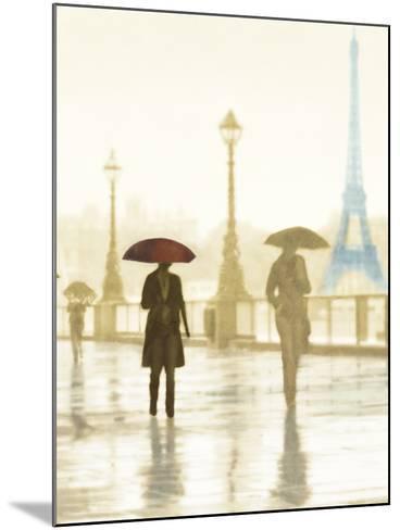 Paris Red Umbrella - Golden-Robert Canady-Mounted Giclee Print
