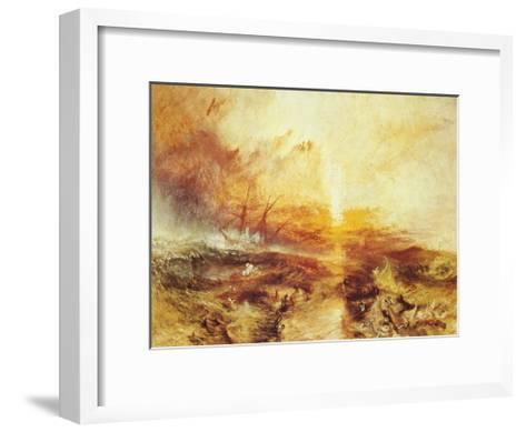 The Slave Ship-J^ M^ W^ Turner-Framed Art Print