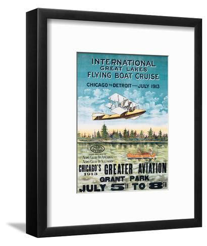 International Great Lakes Flying Boat Cruise, Chicago to Detroit, c.1913--Framed Art Print