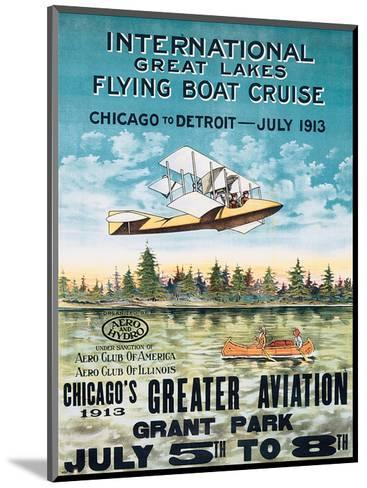International Great Lakes Flying Boat Cruise, Chicago to Detroit, c.1913--Mounted Art Print