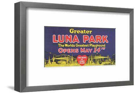 Greater Luna Park Opening--Framed Art Print