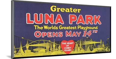 Greater Luna Park Opening--Mounted Art Print