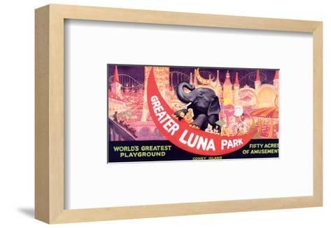 Greater Luna Park, The Worlds Greatest Playground--Framed Art Print