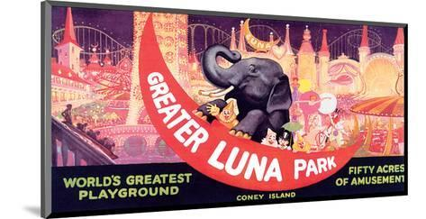 Greater Luna Park, The Worlds Greatest Playground--Mounted Art Print