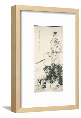 Wang Xizhi observes Geese-Ren Bonian-Framed Art Print