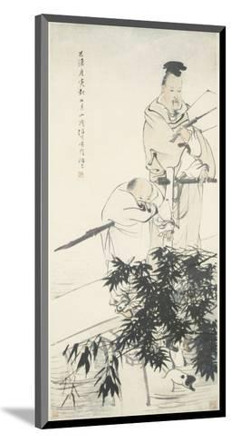 Wang Xizhi observes Geese-Ren Bonian-Mounted Art Print