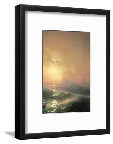 The Ninth Wave (right detail)-Iwan Konstantinowitsch Aiwasowskij-Framed Art Print