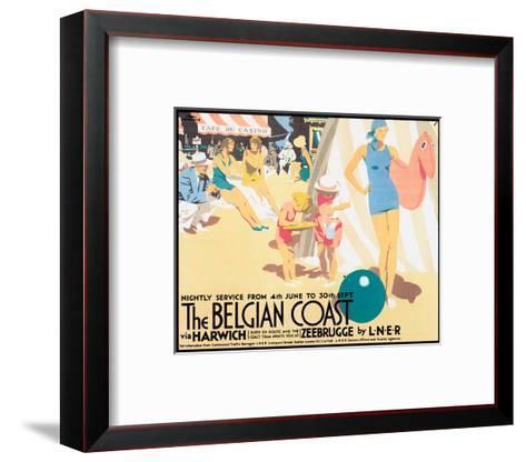 The Belgian Coast-Frank Newbould-Framed Art Print