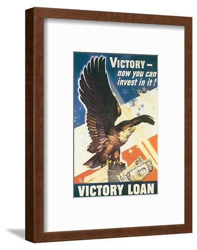 Victory - Now You Can Invest In It! 1945-Dean Cornwell-Framed Art Print