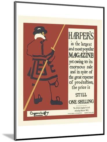 Harper's Magazine, c.1895--Mounted Art Print