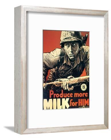 Produce More Milk for Him, c.1943--Framed Art Print