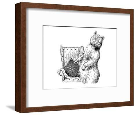 The Story of The Three Bears-Leslie Brooke-Framed Art Print